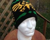Triforce Beanie: Black with Yellow and Green, Large