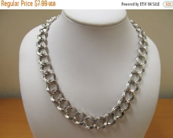 ON SALE SPERRY Textured Chunky Silver Tone Link Necklace Item K # 1265
