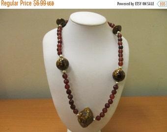 ON SALE Vintage Molded Plastic Beaded Necklace Item K # 2395