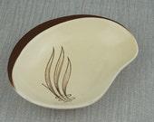 Carlton Ware Windswept Small Side Plate Brown and Cream Ceramic Dish