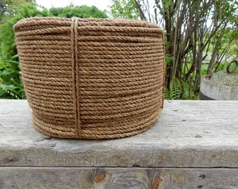 "Vintage Steam Tarred 1/4"" Rope/ 1200 FT in a Coil/DIY Wedding"
