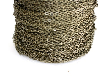 42ft Antique Brass Chain 3x2.2mm-Brass Finish