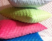 """Minky Pillow Sham- Pick Your Color - Fits Pillow Form 12"""" X 16"""" or 13"""" X 18"""" (Can be personalized)"""