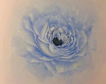 Blue Rose 16 x 16 inch deep box Canvas Oil Painting