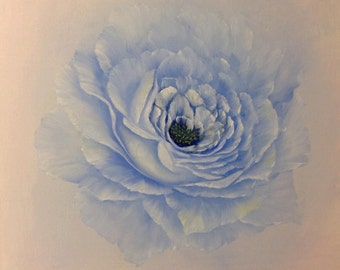 Sale - Blue Rose 16 x 16 inch deep box Canvas Oil Painting
