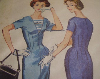 Vintage 1950's McCall's 4325 Dress Sewing Pattern, Size 14, Bust 34