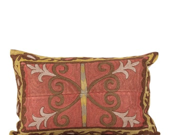 16 x 24 Pillow Cover Suzani Pillow Vintage Suzani Pillow Hand Embroidered Pillow Uzbek Suzani Pillow FAST SHIPMENT with ups or fedex - 1234