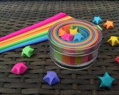 Origami Lucky Stars Paper Strips Kraft Kit, 100 count, Rainbow Multicolor