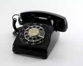 1960's Black Rotary Telephone