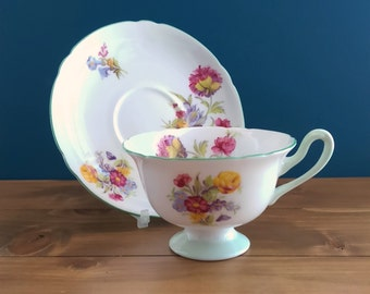 Vintage Shelley Tea Cup and Saucer in the Gainsborough Shape