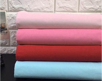 Solid Cotton Fabric, Pink Cotton Fabric, Red Cotton Fabric, Blue Cotton Fabric, 57 inches wide - By the Yard 86235