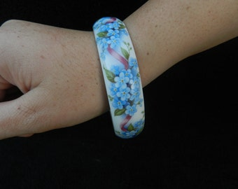 Bracelet: Hand Decorated Porcelain