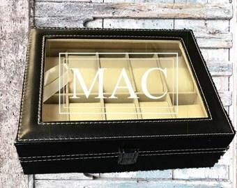 Groomsman Gift/HUGE SALE/Engraved Watch Box/Display Case/Custom Watch Box/Best Man Gift/Groom Gift