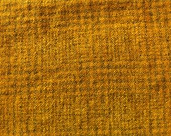 Hand Dyed Felted Wool - golden ochre houndstooth