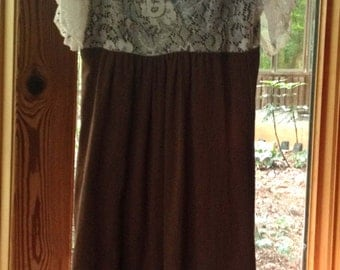 Downton lace bodice dress