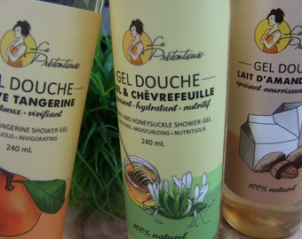 All natural Honey and honeysuckle shower gel 240 ml