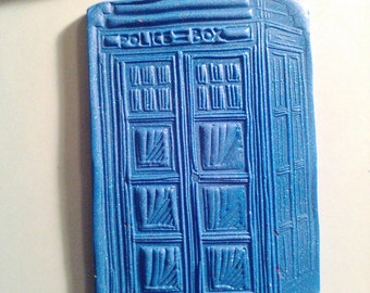 Handmade Polymer Effects Clay Police Booth/ Tardis Magnet.