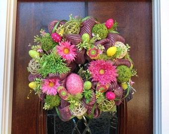 Whimsical Easter Egg Wreath