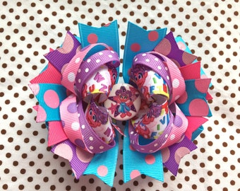Ready To Ship Hairbow! Abby Cadabby Hairbow, ABC Hairbow, Polka Dot Boutique Hairbow, Girls Hairbow
