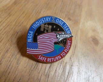 NASA Industry One Team pin Safe Return to Flight Space Shuttle