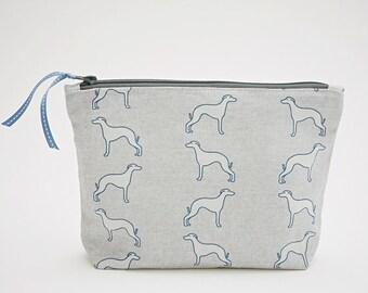 Whippet Grey Washbag