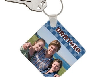 Customized Photo Keychain for Brothers