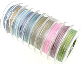 10 rolls mix color tiger tail wires 0.4mm-10308