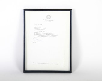 President Bill Clinton Autographed Letter  - Governor of Arkansas, Appearing on The Tonight Show with JOhnny Carson