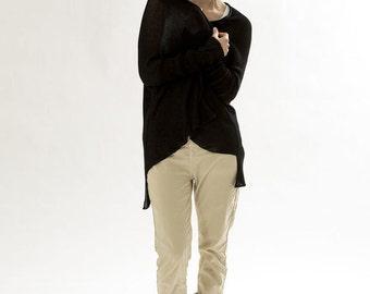 SALE Women Black Cardigan ,knit Jacket ,women sweater blouse