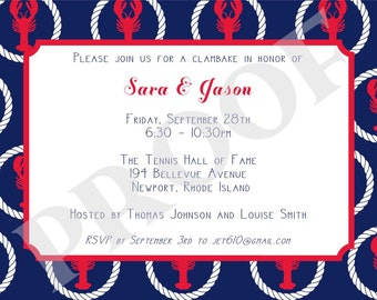 Lobster Invitation or Save the Date