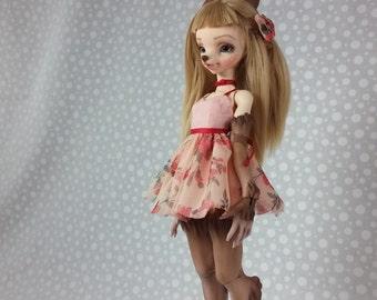 Peach Blossom Dress Set for Dollpamm Arubi