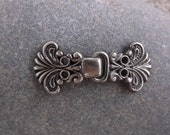 Metal Hook and Eye Silver Fasterner, Clasp, Frog, Closure in Scandinavian Style