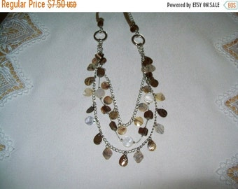 50% OFF multistrand bead necklace, vintage bib necklace statement necklace