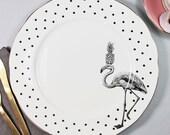 Fancy Flamingo Dinner Plate