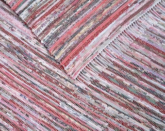 4x6 Rag Rug / Project Remnants / Pink, Red, Floral