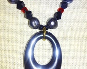 Black Crystal Rastafari Necklace with Hematite pendant