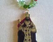 Rastafari Pendant Necklace of Emperor Haile Selassie I Coronation