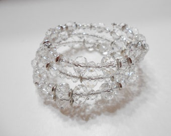 Absolutely Gorgeous Crystal Upper Arm Or Wrist Stretch Bracelet (0796)