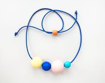 TAYŌ Necklace  -  Lemon / Blue / Peach / Turquoise