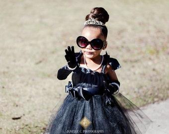LBD-Breakfast at Tiffany's inspired little black dress. Flower girl, holiday, formal dress, pageants.