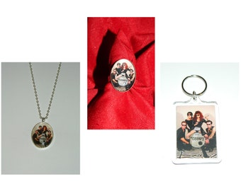 The cramps Glass Pendant Necklace ring and or earrings