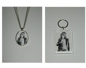 Rod Stewart Glass Pendant Necklace and/ or Keychain