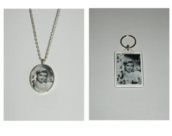 Doris Day Glass Pendant Necklace and/ or Keychain