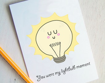 Valentines Card Lightbulb Moment - Funny Valentine Cards