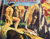 25% Off Storewide Sale 1957 TARZAN and The Lost Safari by Edgar Rick Burroughs Hardcover Book Authorizd Edition
