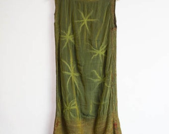 nunodress, reversible, black and green silk dress