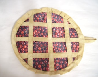 Mother gift, for the kitchen, for her, pot holder, for the oven, kitchen, for mom, cherry pie, berry pie, blueberries, home, dining.