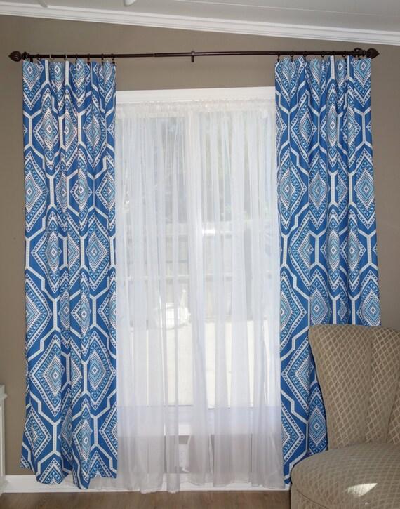 New Cobalt Blue Curtain Panels Two Panels By Sewdivinebyamanda