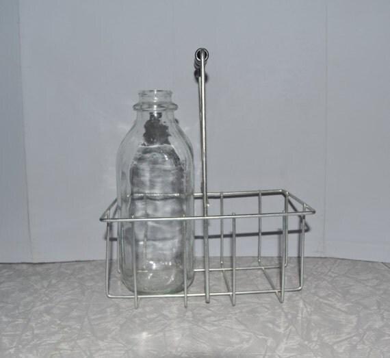 wire milk bottle carrier milk bottle caddy wire basket. Black Bedroom Furniture Sets. Home Design Ideas