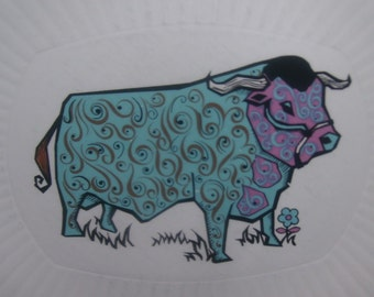 psychedelic Staffordshire Beefeater Plate